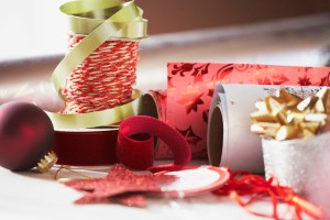 Festive Christmas Ribbon and Wrapping Paper