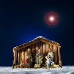 Creche under star in sky